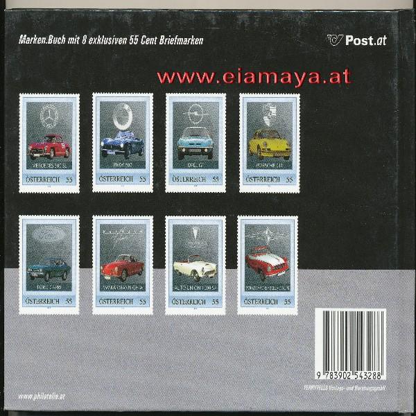 Briefmarkenbuch Deutsche Sportwagen inklusive 8 erlesene klassische Oldtimerbriefmarken