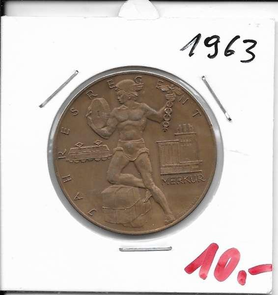 1963 Kalendermedaille Jahresregent Bronze