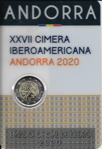 2 Euro Andorra 2020 27. Iberoamerikanisches Gipfeltreffen