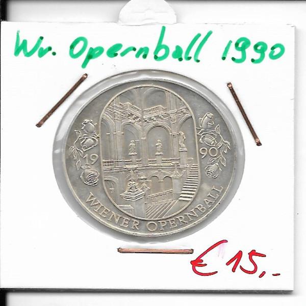 Casino Jeton 100 Schilling Wiener Opernball 1990 Casinos Austria Silber