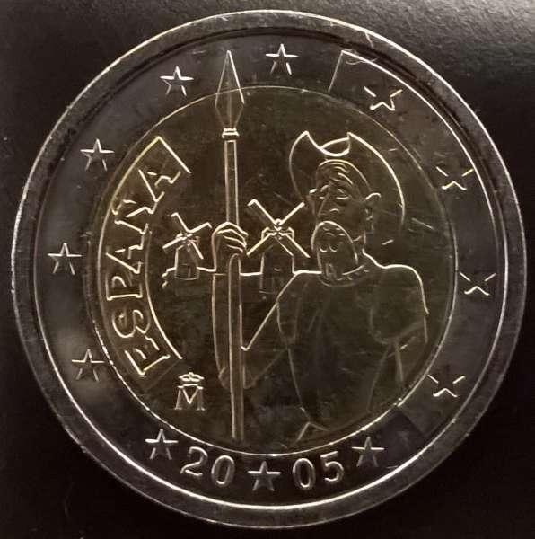 2 Euro Spanien 2005 Don Quichote