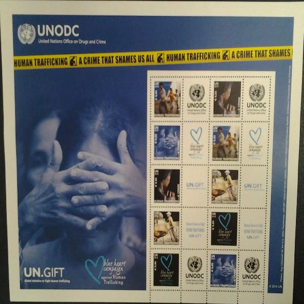 7.Grussmarken Bogen Menschenhandel 2010 Postfrisch