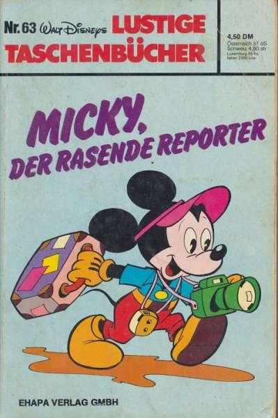 LTB Band 063 Micky der rasende Reporter eckiges Logo Nummer unten