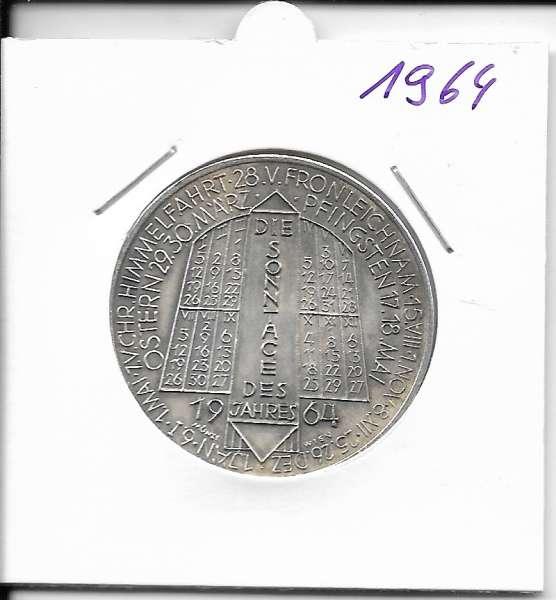 1964 Kalendermedaille Jahresregent Universität s Bund Innsbruck Bronze versilbert