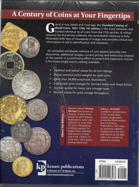 Standard Catalog of World Coins 1601-1700 7 th Edition