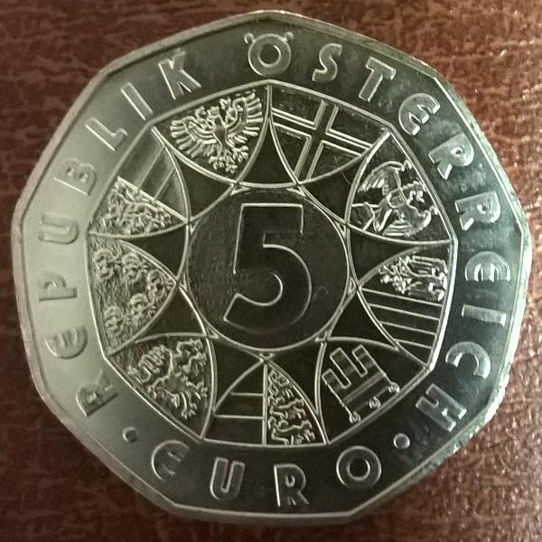 5 Euro Silber 1 Stück Österreich 8gr. Feinsilber