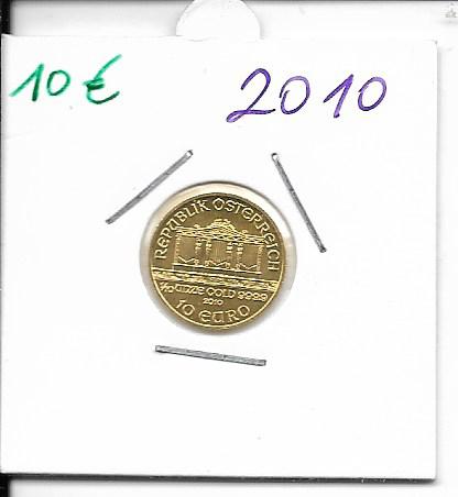 2010 Philharmoniker 1/10 Unze 10 € Euro 3,11 Gramm