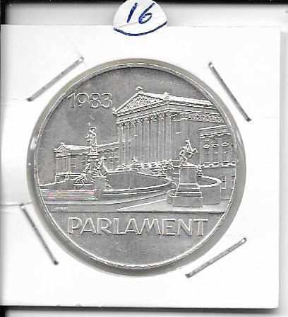 ANK Nr. 16 100 Jahre Österreichisches Parlament 1983 500 Schilling Silber Normal