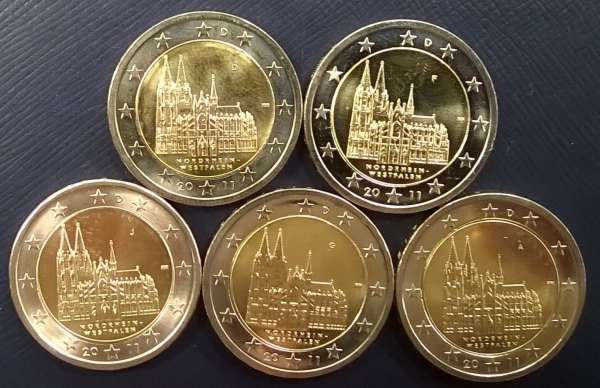 2 Euro Deutschland Kölner Dom 2011 Alle 5 Buchstaben
