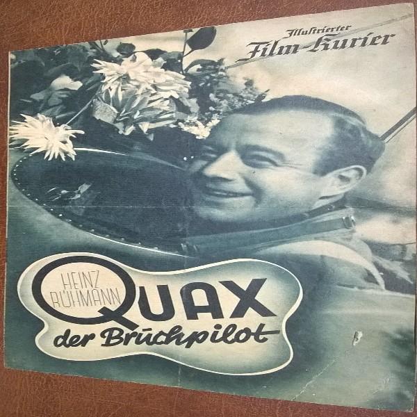 Illustrierter Film - Kurier Heinz Rühmann QUAX der Bruchpilot Einriss