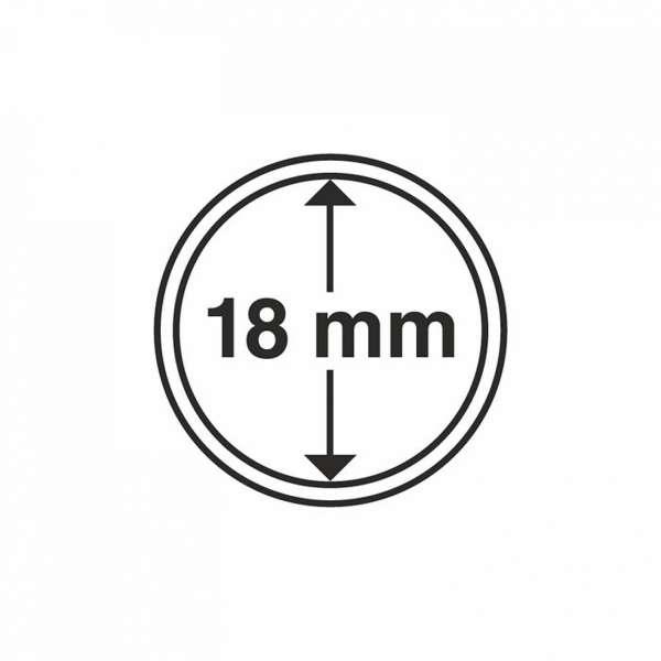 MÜNZKAPSELN CAPS 18 MM, 10 ER PACK