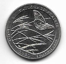 """USA 25 Cent 2020 P """"Beautiful Quarter -Kansas - (54)"""