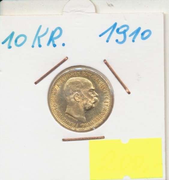 10 Kronen 1910 Franz Joseph I Gold mit St.Schwartz