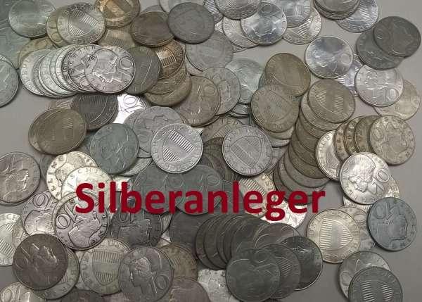 100 Stück 10 Schilling Silber 480gr.Feinsilber