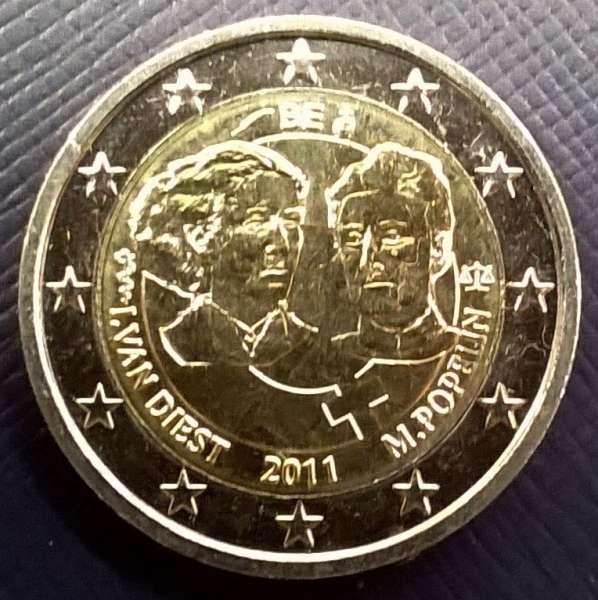 2 Euro Belgien 2011 100 Jahre int. Frauentag