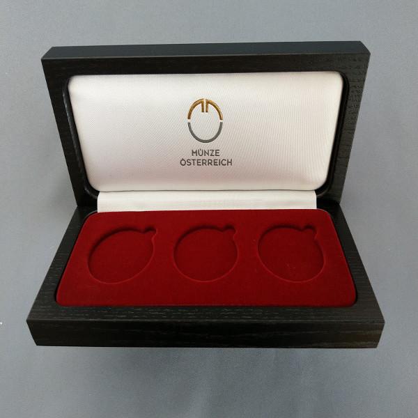 Sammelkassette - für 3x 1 Oz. Silber zum Beispiel1,5 Euro 825 Jahre Münze Wien