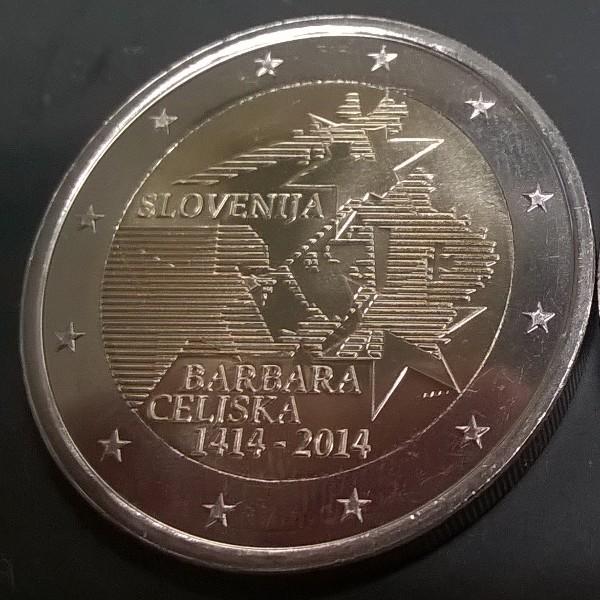 2 Euro Slowenien 2014 Barbara Celjiska