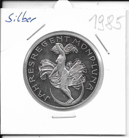 1985 Kalendermedaille Jahresregent Silber