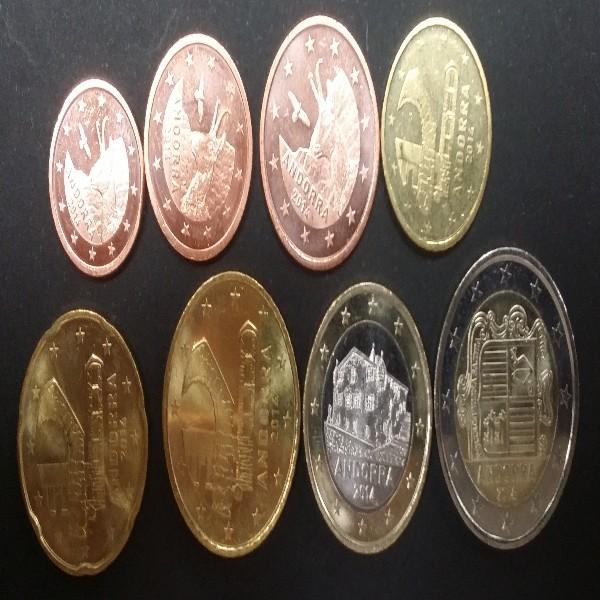 Andorra Euromünzen 1 Cent bis 2 Euro gemischt