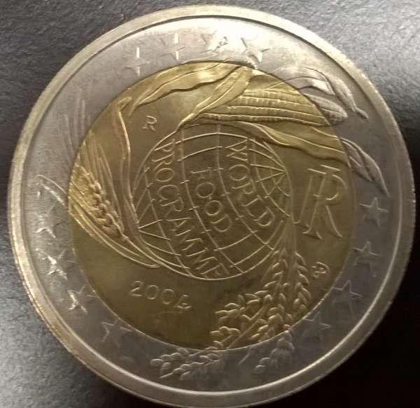 2 Euro Italien 2004 World Food