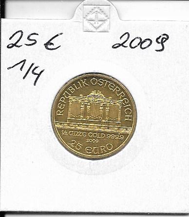 2009 Philharmoniker 1/4 Unze 25 € Euro 7,78 Gramm