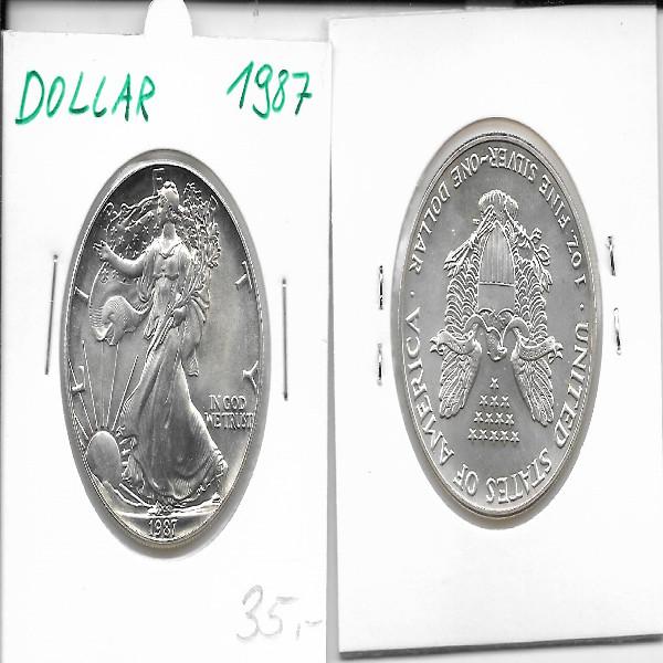 1 Dollar Silber Eagle Unze 1987