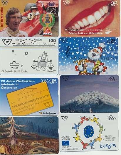 Gültige Telefonwertkarten Wert 1400 Schilling Neu ungebraucht