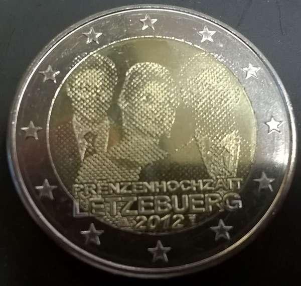 2 Euro Luxemburg 2012 Prinzenhochzeit