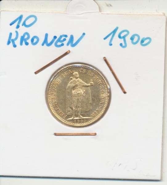 10 Korona 1900 KB Franz Joseph I Gold