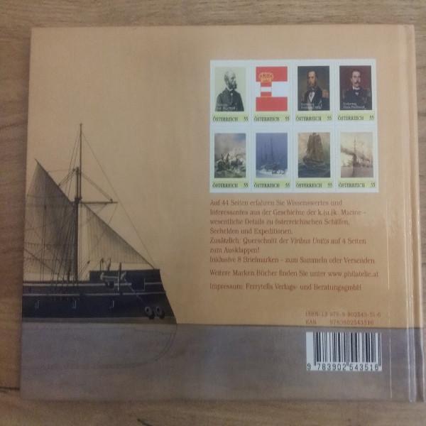 Briefmarkenbuch Geschichte der K.u.K.Marine mit 8 exklusive Marken