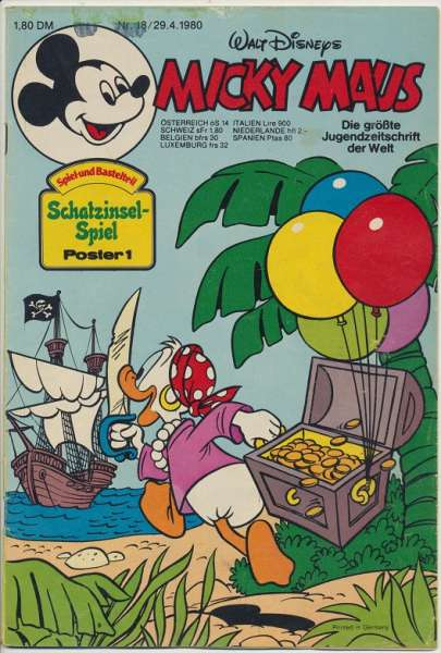Micky Maus Nr. 18/1980
