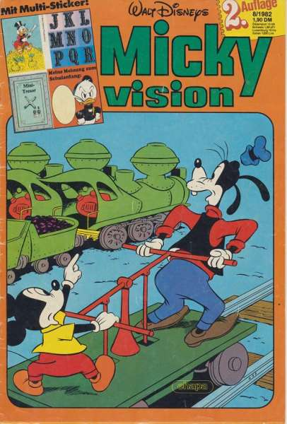 Mickyvision 2.Auflage Heft Nr. 8/1982