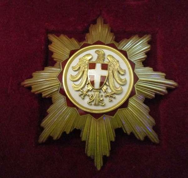 Goldener Bruststern Ehrenzeichen Bundesland Wien im Etui