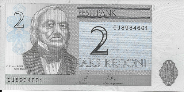 Estland Estonia - 2 Krooni 2007 UNC - Pick 85b
