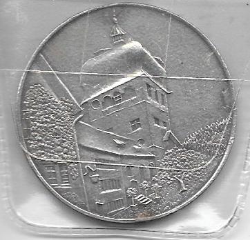 Vorarlberg Silber Medaille 100 Jahre Verkehrsbetriebe 1971