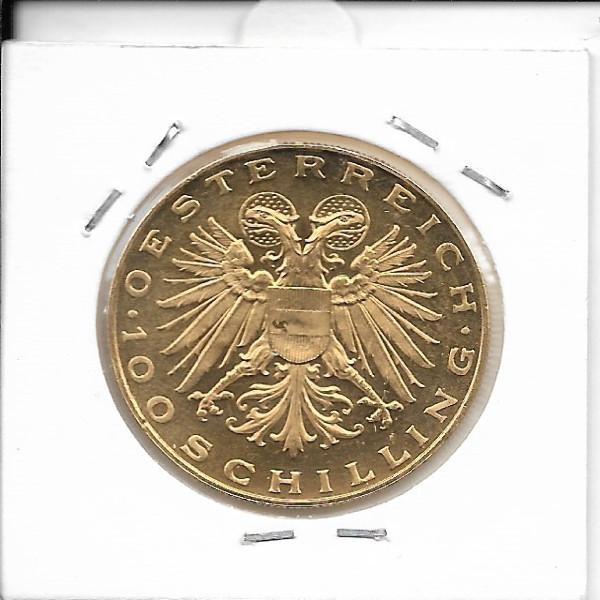 100 Schilling Gold 1937 Magna Mater
