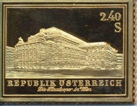 Collection Magna Austria Silber Österreich Eröffnung Staatsoper in Wien 1955 24 Karat Vergoldet