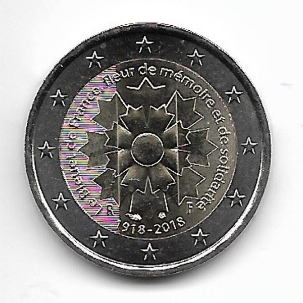 2 Euro Frankreich 2018 Kornblume