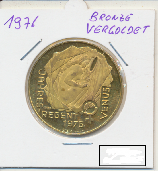 1976 Kalendermedaille Jahresregent Silber Vergoldet