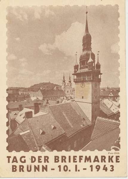 Tag der Briefmarke Brünn 1943 Reco