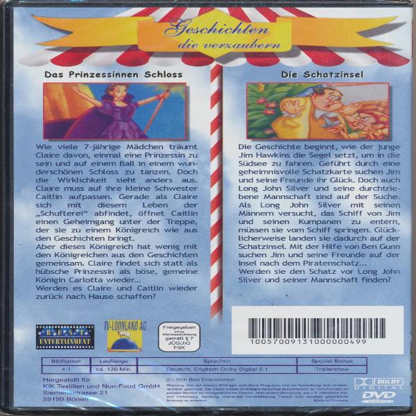 Geschichten die verzaubern Das Prinzessinnen Schloß + Die Schatzinsel DVD