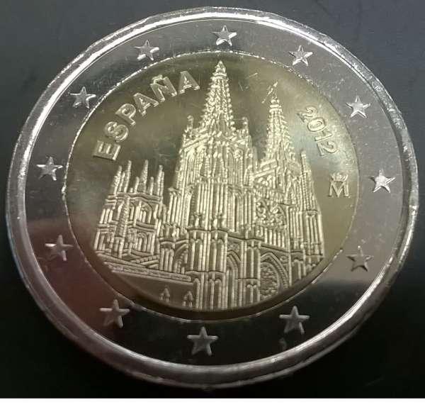 2 Euro Spanien 2012 Kathedrale von Burgos