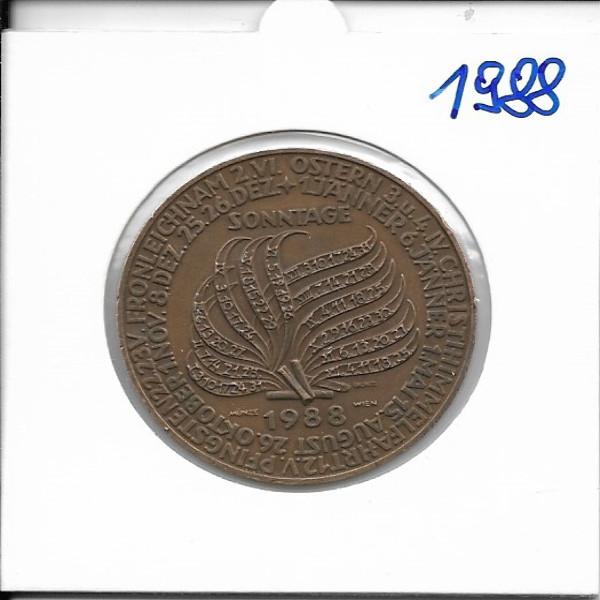 Kalendermedaille Jahresregent 1988 Bronze