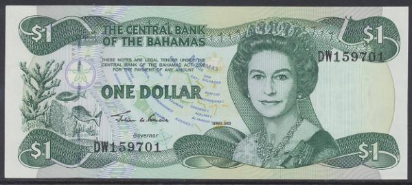 Bahamas -1 Dollar 2002 UNC - Pick 70