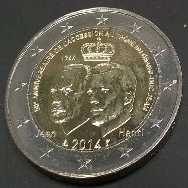 2 Euro Luxemburg 2014 50 Jahre Großherzog Jean