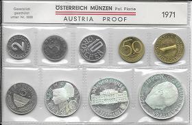 1971 Jahressatz Kursmünzensatz Groß KMS Mintset