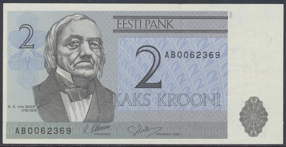 Estland Estonia - 2 Krooni 1992 UNC - Pick 70