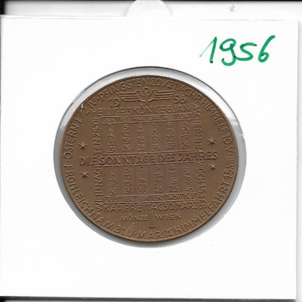 1956 Kalendermedaille Jahresregent Bronze