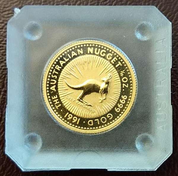 Grey Kangaroo 1991 Gold 3,1g 1/10 oz 15 Dollars 1/10 Unze The Australien Nugget