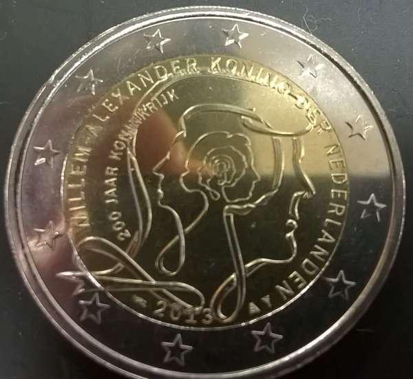 2 Euro Niederlande 2014 200 Jahre Königreich